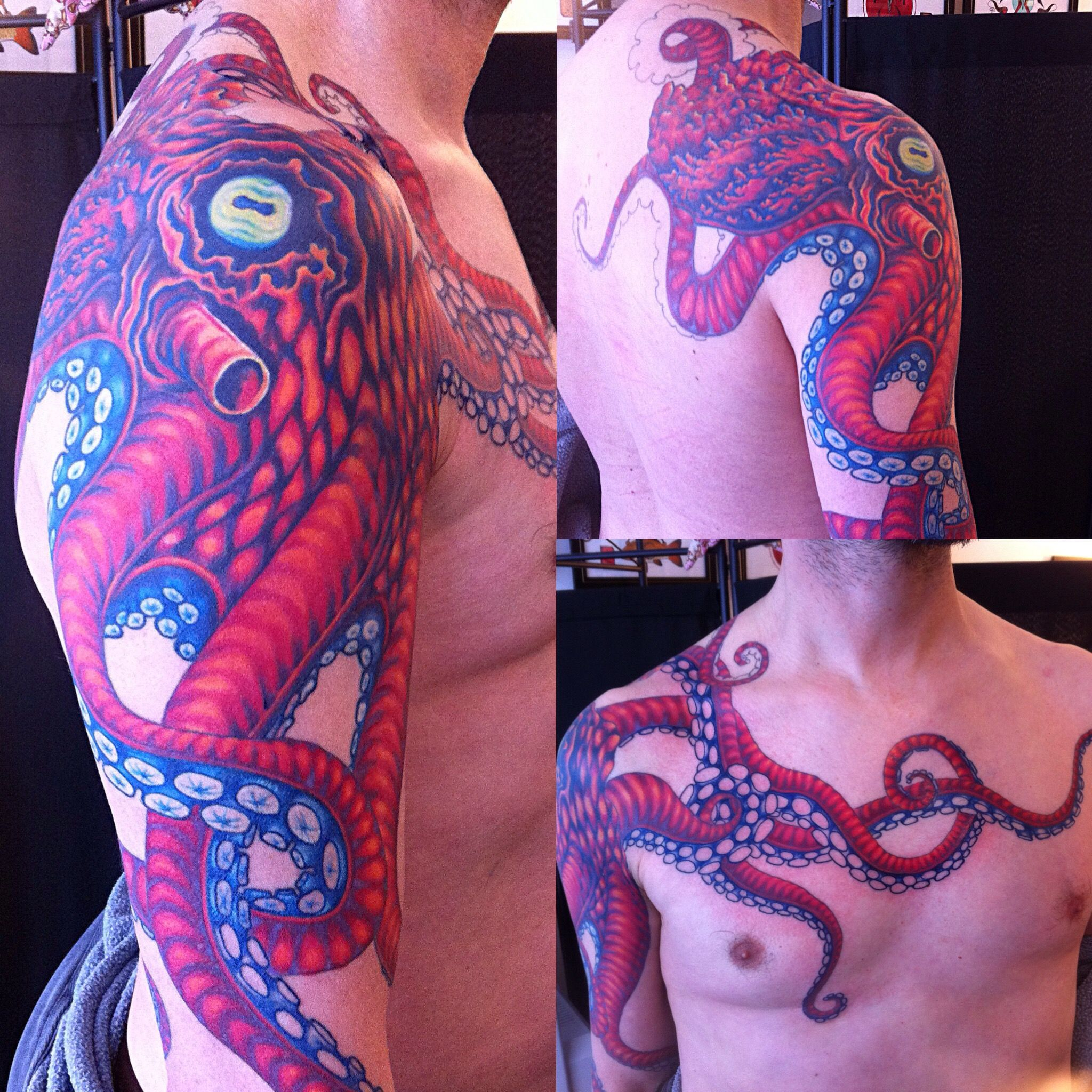 Octopus Tattoo Over Arm Shoulder Back And Chest Work In Progress pertaining to sizing 2048 X 2048