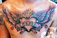 Open Heart Chest Tattoo Angel Chest Tattoo Images Designs Newest throughout size 1296 X 968
