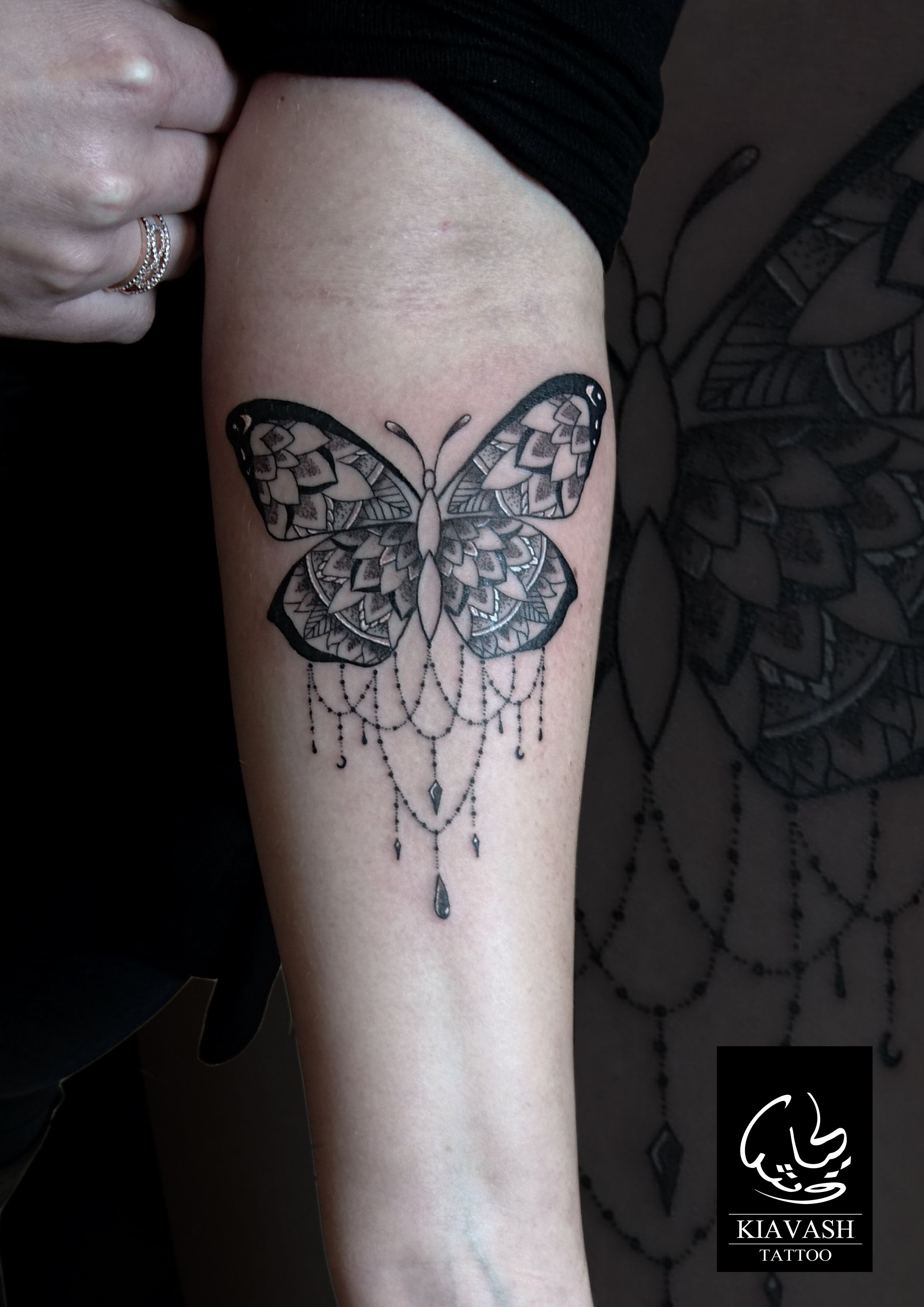 Ornamental Butterfly Tattoo Forearm Girl Sorted Body Parts with regard to size 2480 X 3508
