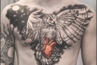 Owl Holding Heart Chest Tattoo Best Tattoo Design Ideas Heart regarding dimensions 908 X 908