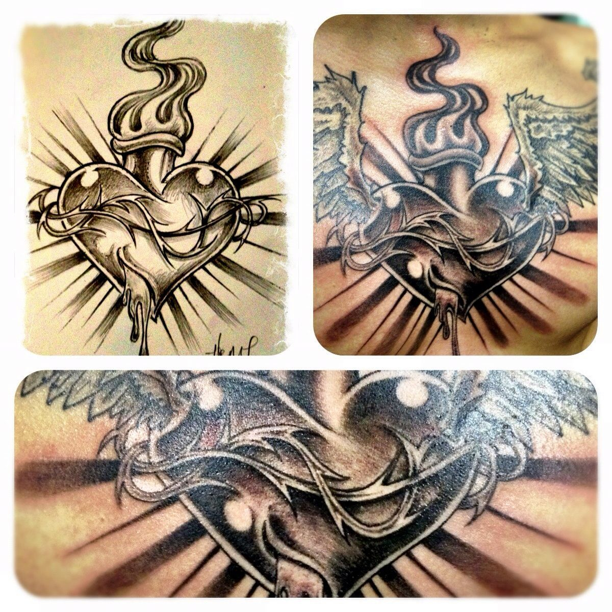 Pin Chad Oneill On Sacred Hearts Sacred Heart Tattoos Chest with dimensions 1200 X 1200