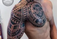 Polynesian Chest And Arm Sleeve Inked Samoan Tattoo Tribal throughout size 1080 X 985