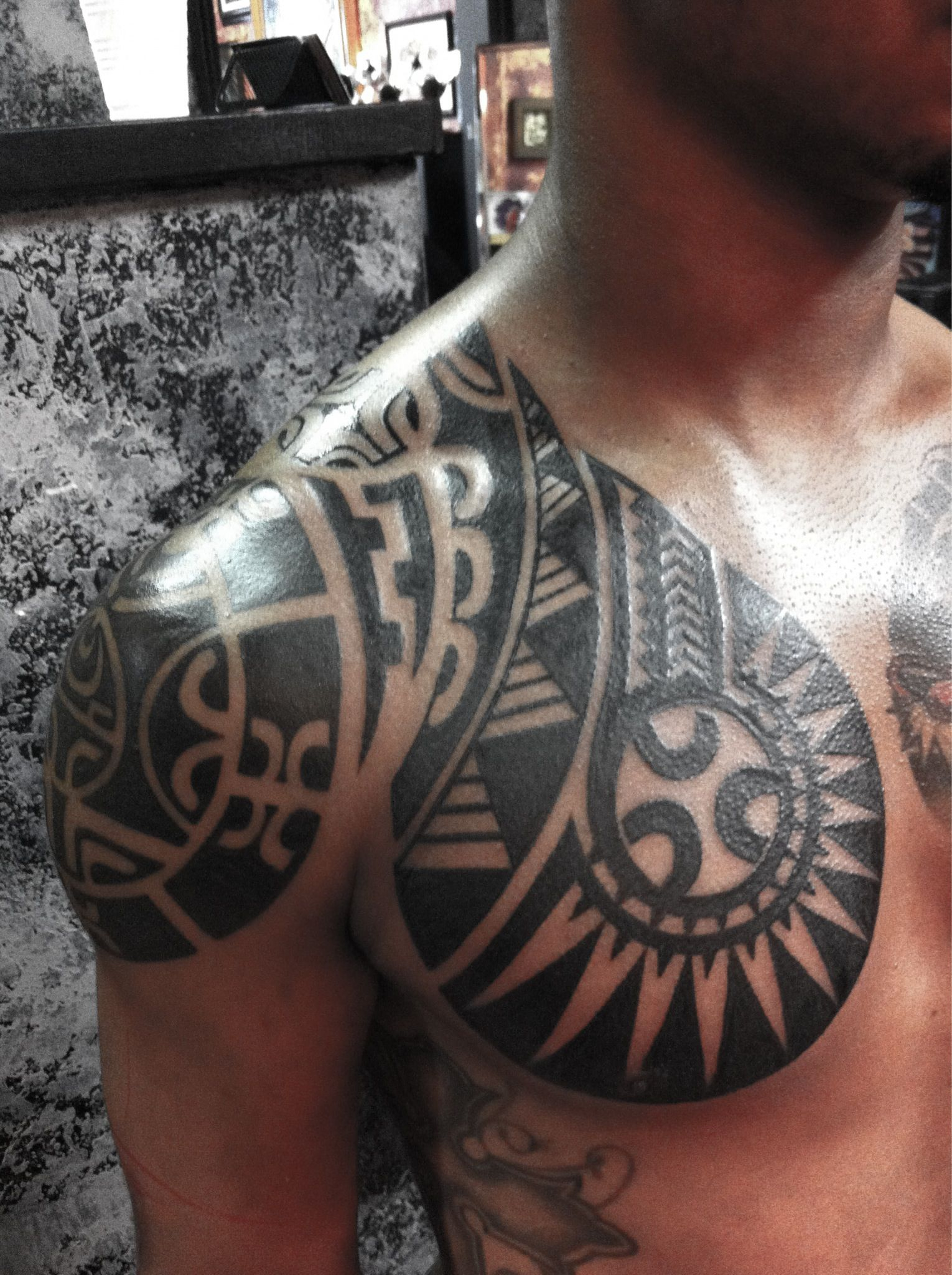 Polynesian Chest Piece Polynesian Tribal Tattoos Tattoo within dimensions 1530 X 2048