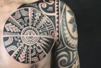 Polynesian Chest Tattoo Addition To A Half Sleeve Tattoos intended for measurements 1080 X 1080