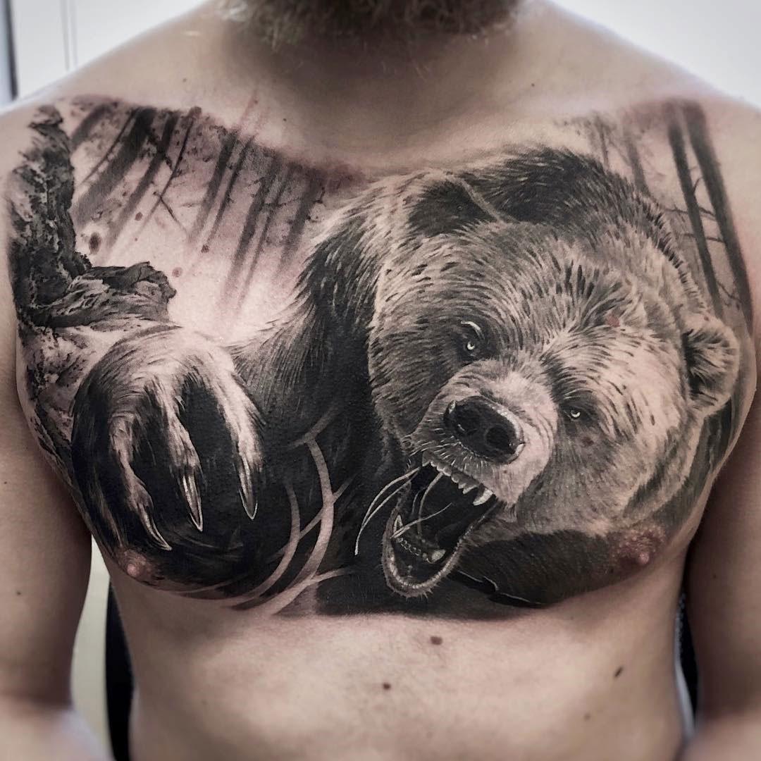 Bear Chest Tattoo Arm Tattoo Sites