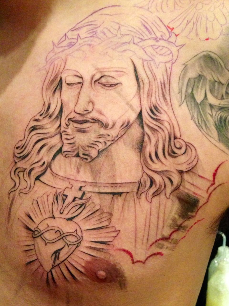 Religious Tattoos On Chest Jesus Religious Chest Religious Chest inside sizing 960 X 1280