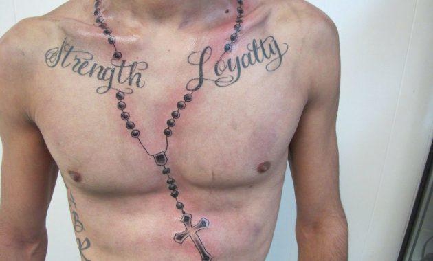 Rosary Chest Tattoo Arm Tattoo Sites