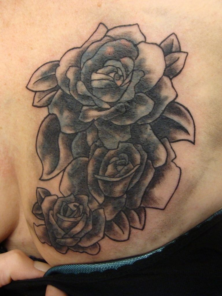 Roses Tattoos On Chest Rose Chest Tattoo Meaning Best Tattoo Design regarding measurements 768 X 1024