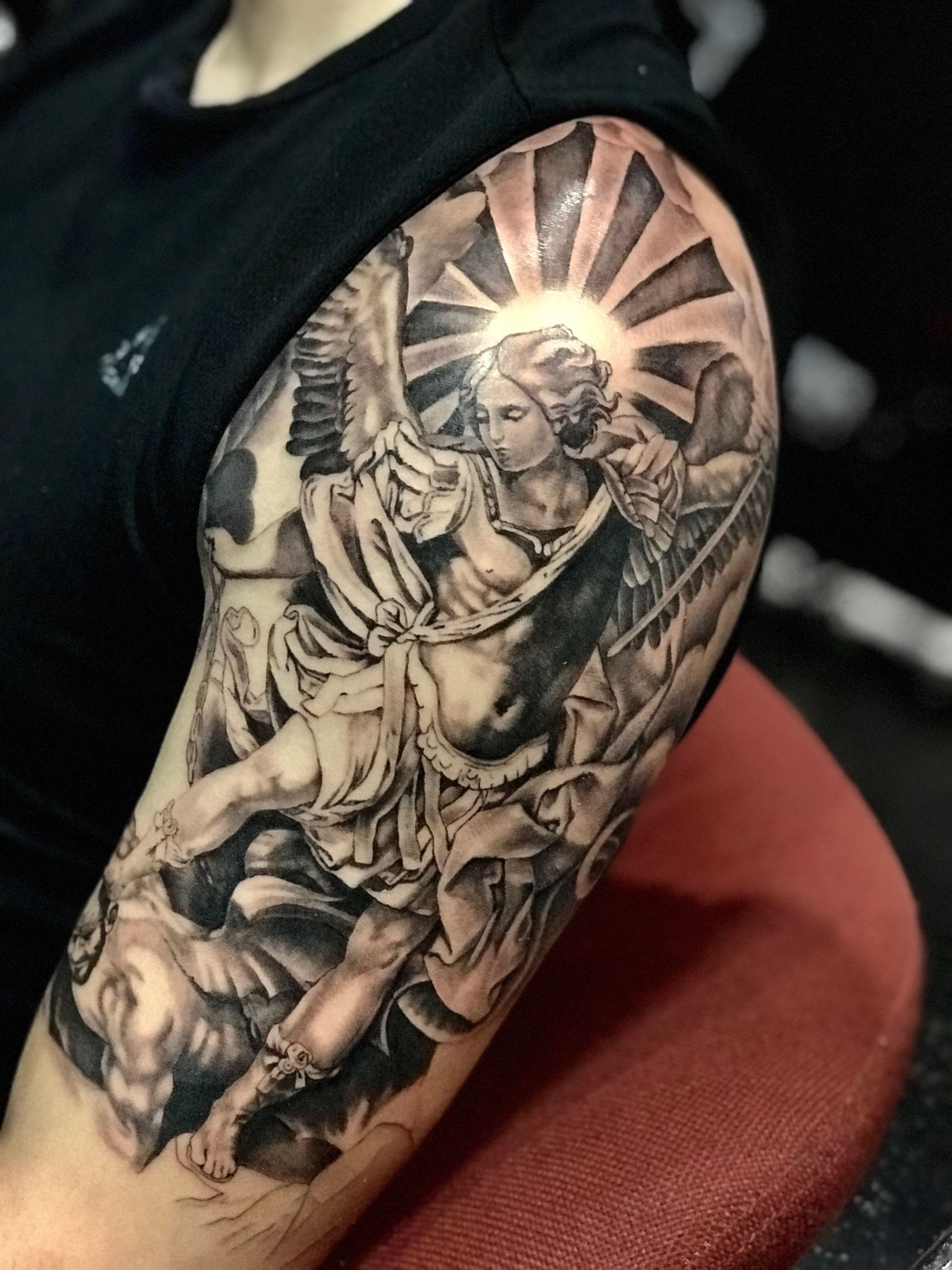 San Miguel Arcangel Tattoo Bae Archangel Michael Tattoo St regarding sizing 3024 X 4032