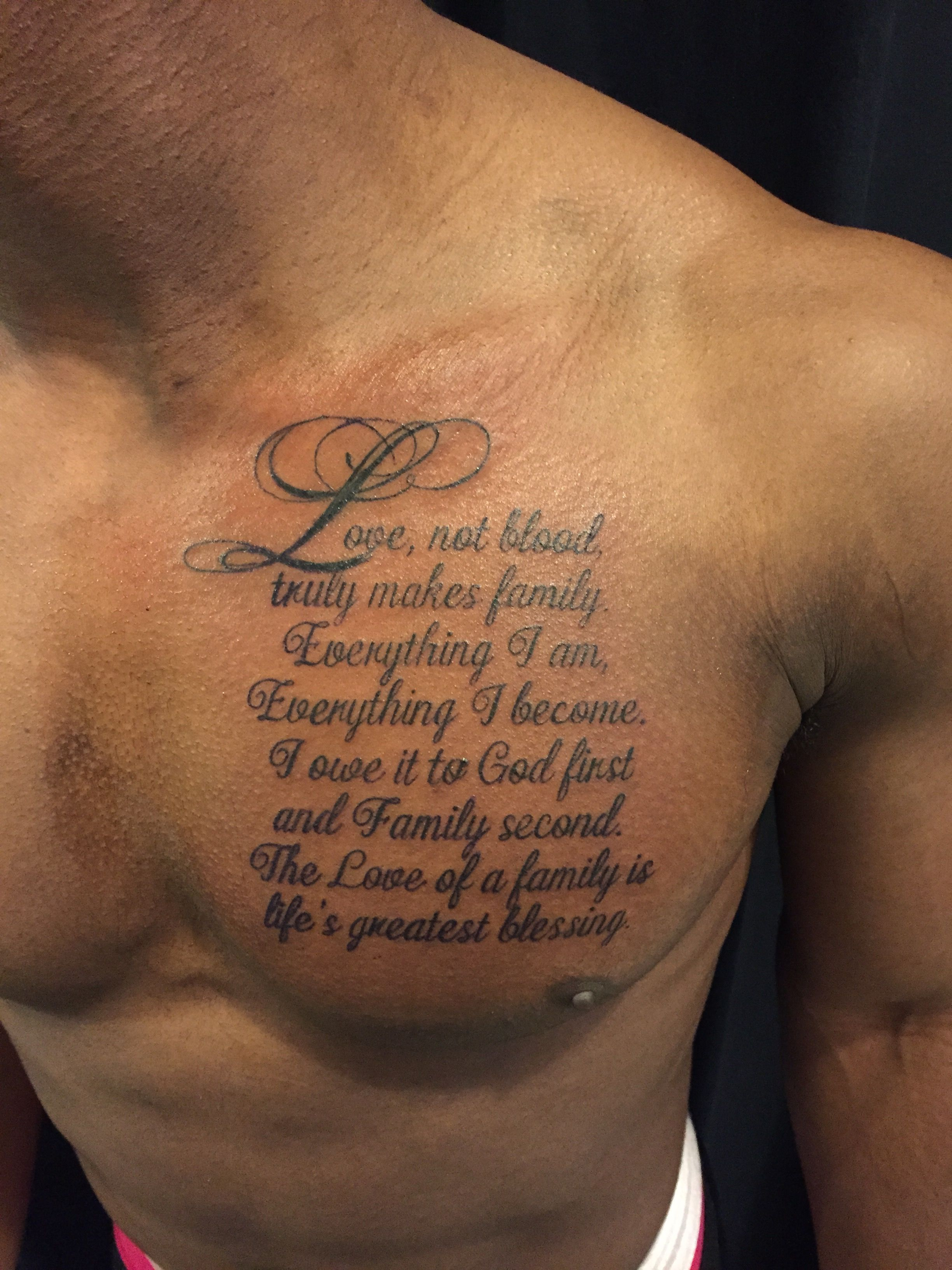 Script On Chest Tattoo Artist Nina Dreamworx Ink 3883 Rutherford Rd with regard to sizing 2448 X 3264