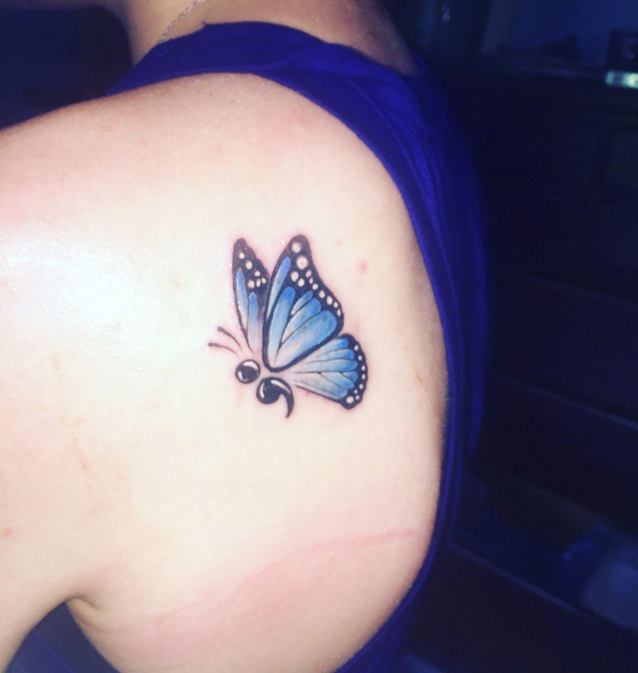 Semicolon Butterfly Tattoo Photos Semicolon Tattoo Tattoos inside dimensions 1264 X 1334