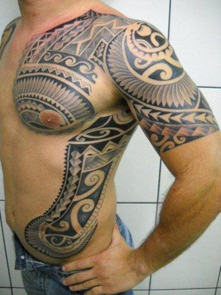 Shoulder Tattoos For Men Tattoofanblog in sizing 768 X 1024