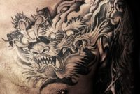 Shoulder To Chest Dragon Tattoo Chronic Ink Japanese Dragon inside proportions 3132 X 2776