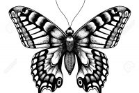 Silhouette Of Butterfly Tattoo Butterfly Isolated Vector Sketch within measurements 1300 X 1300