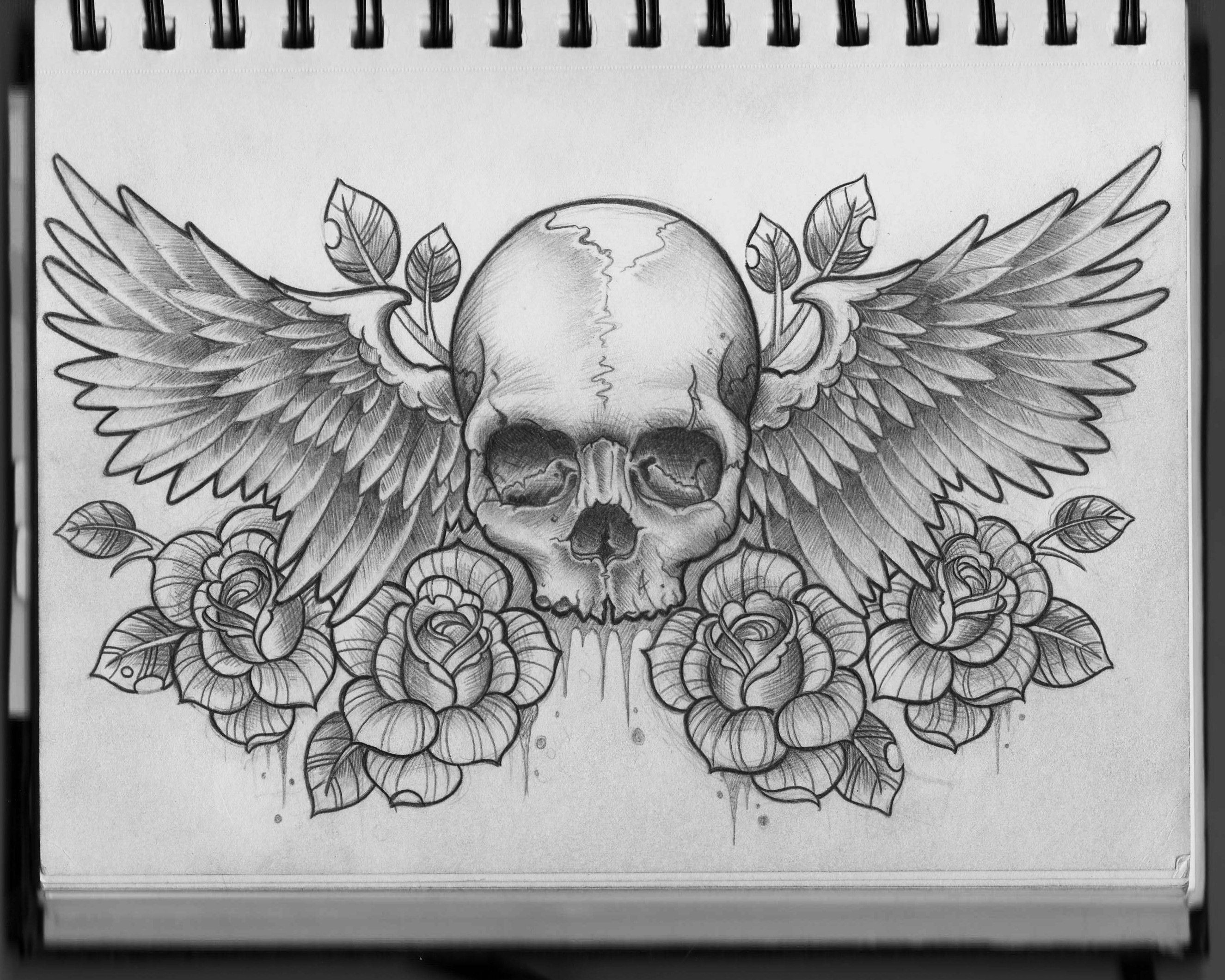 Skull And Wings Chest Design Ink Filigree Tattoo Tattoos Chest within size 2650 X 2122