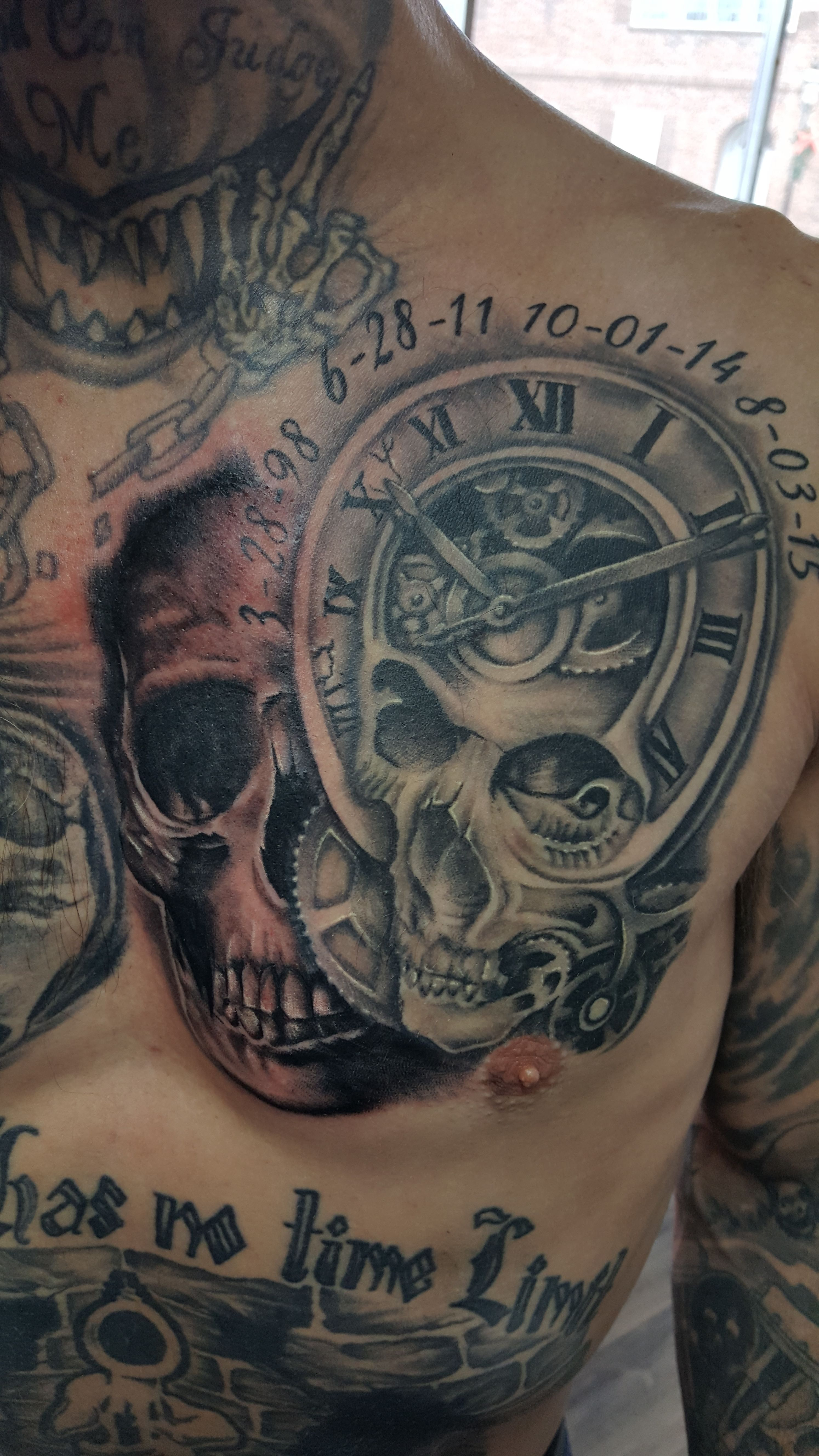 Skull Chest Tattoo Tattoos Jeffery Moon Tattoos Chest throughout dimensions 2988 X 5312