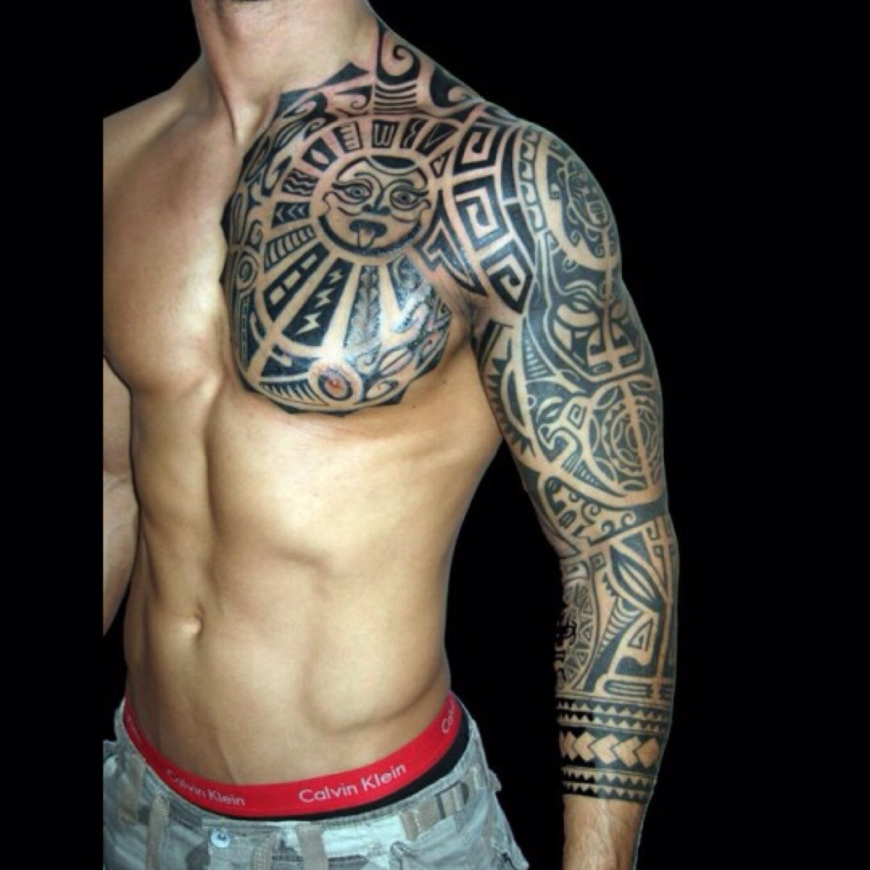 Sleeve And Chest Tattoos Half Sleeve Tattoo Site inside proportions 1252 X 1252