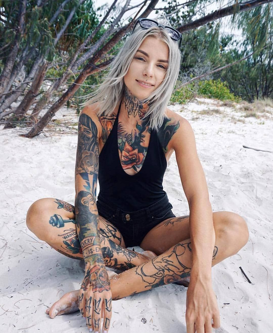 Sleeve Chest Beach Tattoos More Hot Tattoo Girls Girl with sizing 1080 X 1316