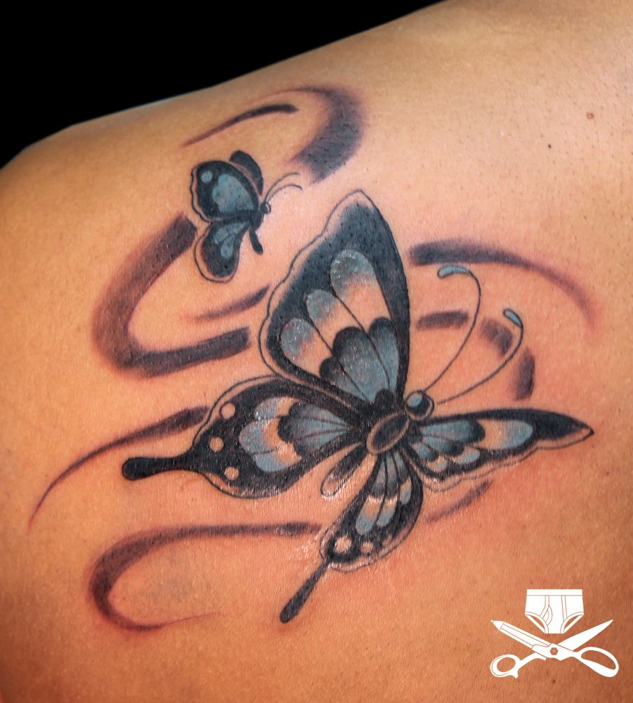 Small Butterfly Tattoos Butterfly Tattoo Multiple Butterflies On within size 901 X 1000