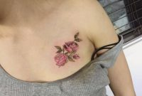 Small Female Chest Tattoos Rose Tattoo On The Chest Tattoo Artist regarding sizing 1024 X 1024