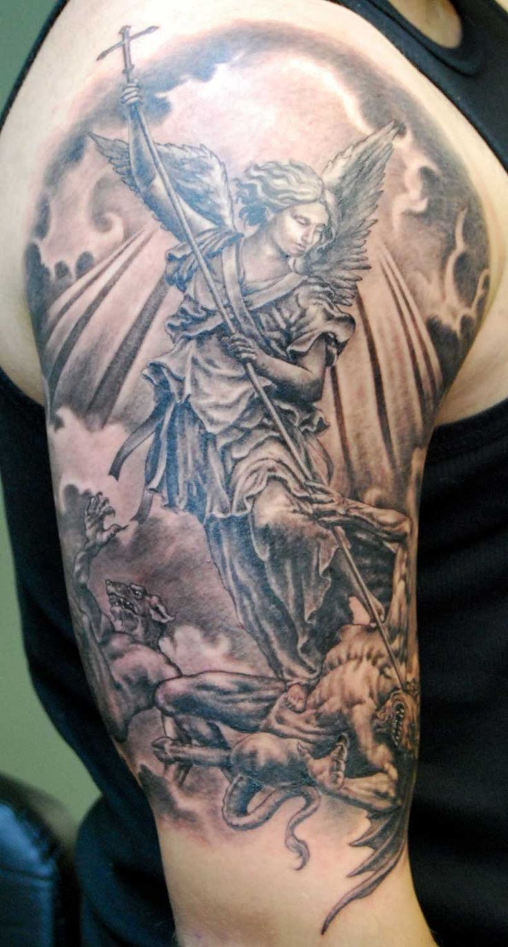 St Michael Tattoo For Mark St Michael Is The Patron Saint To All within measurements 736 X 1371