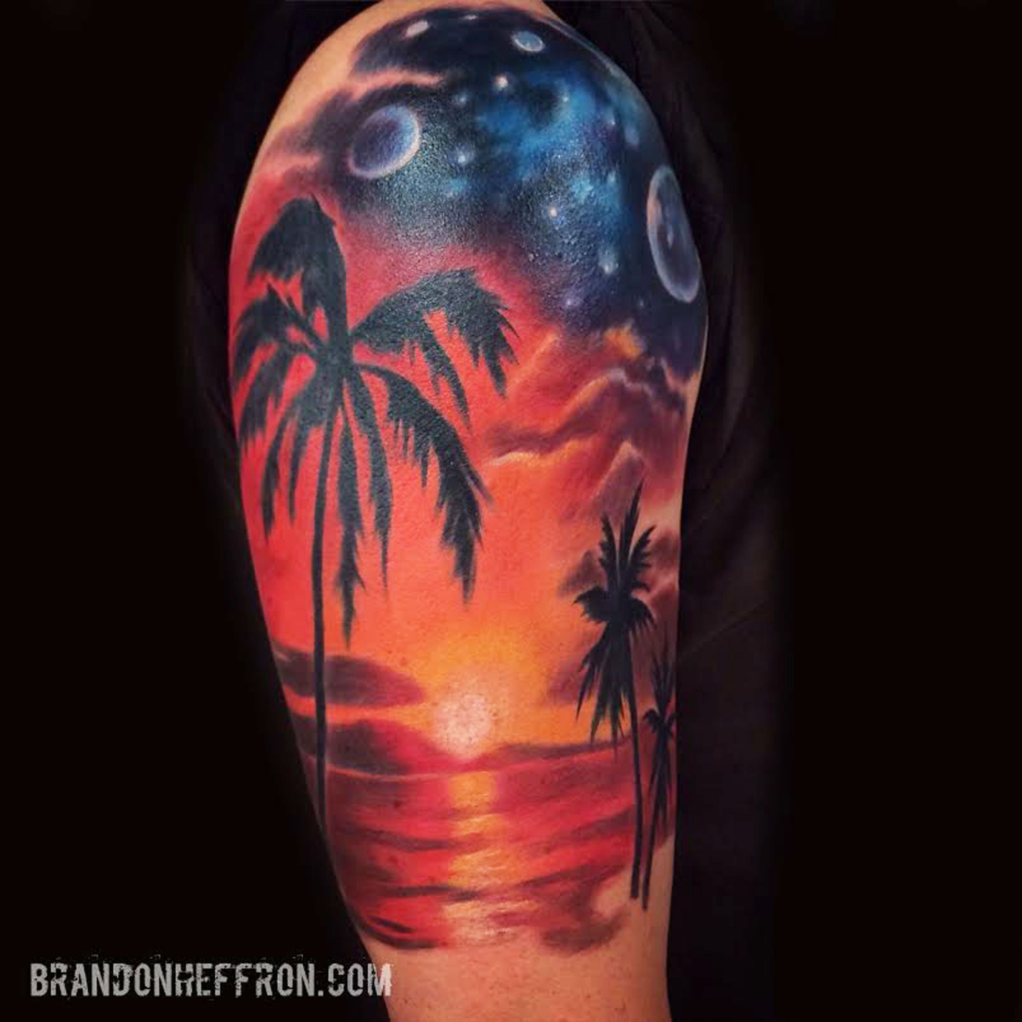 Sunset Night Beach Tattoo Tattoos Tattoos Sunset Tattoos Ocean intended for size 3346 X 3346