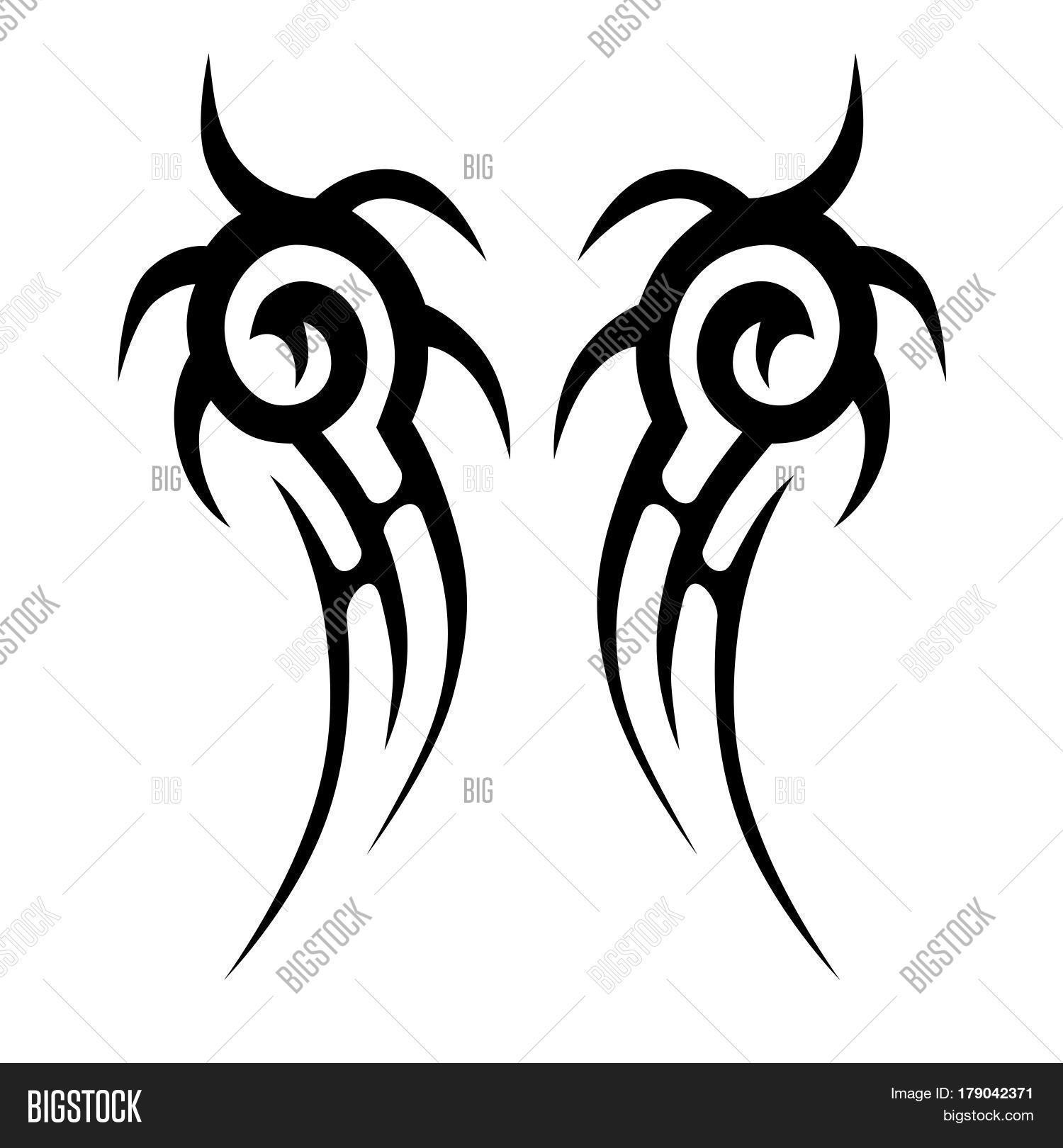 Tattoo Tribal Vector Photo Free Trial Bigstock for sizing 1500 X 1620