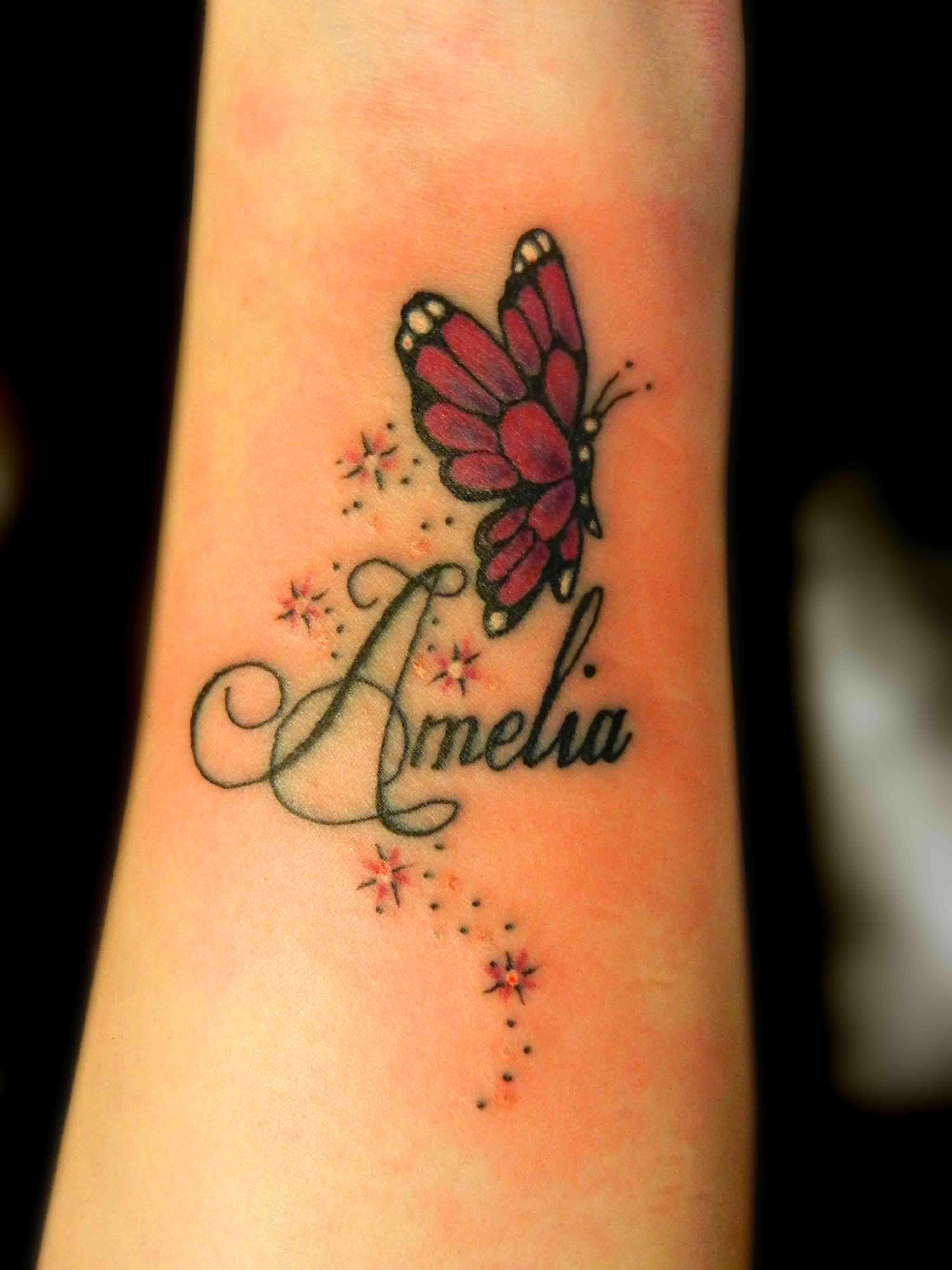 Tattoo Truro Butterfly Tattoo Stars Twinkles Pretty Wrist Girly 001 with measurements 3000 X 4000