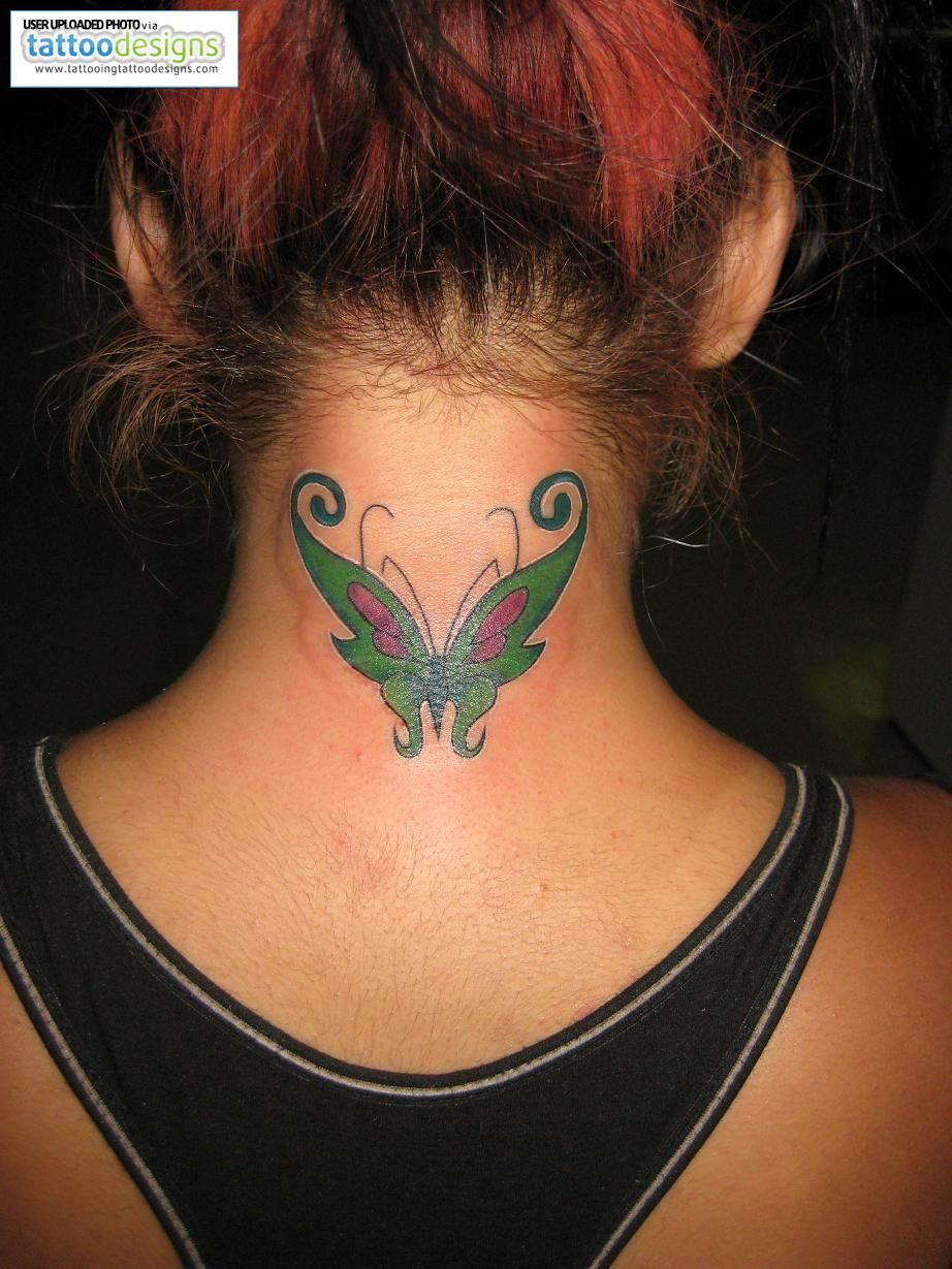 Tattoos For Girls Tattoos For Girls On Back Of Neck Tattoo Neck with regard to size 922 X 1229