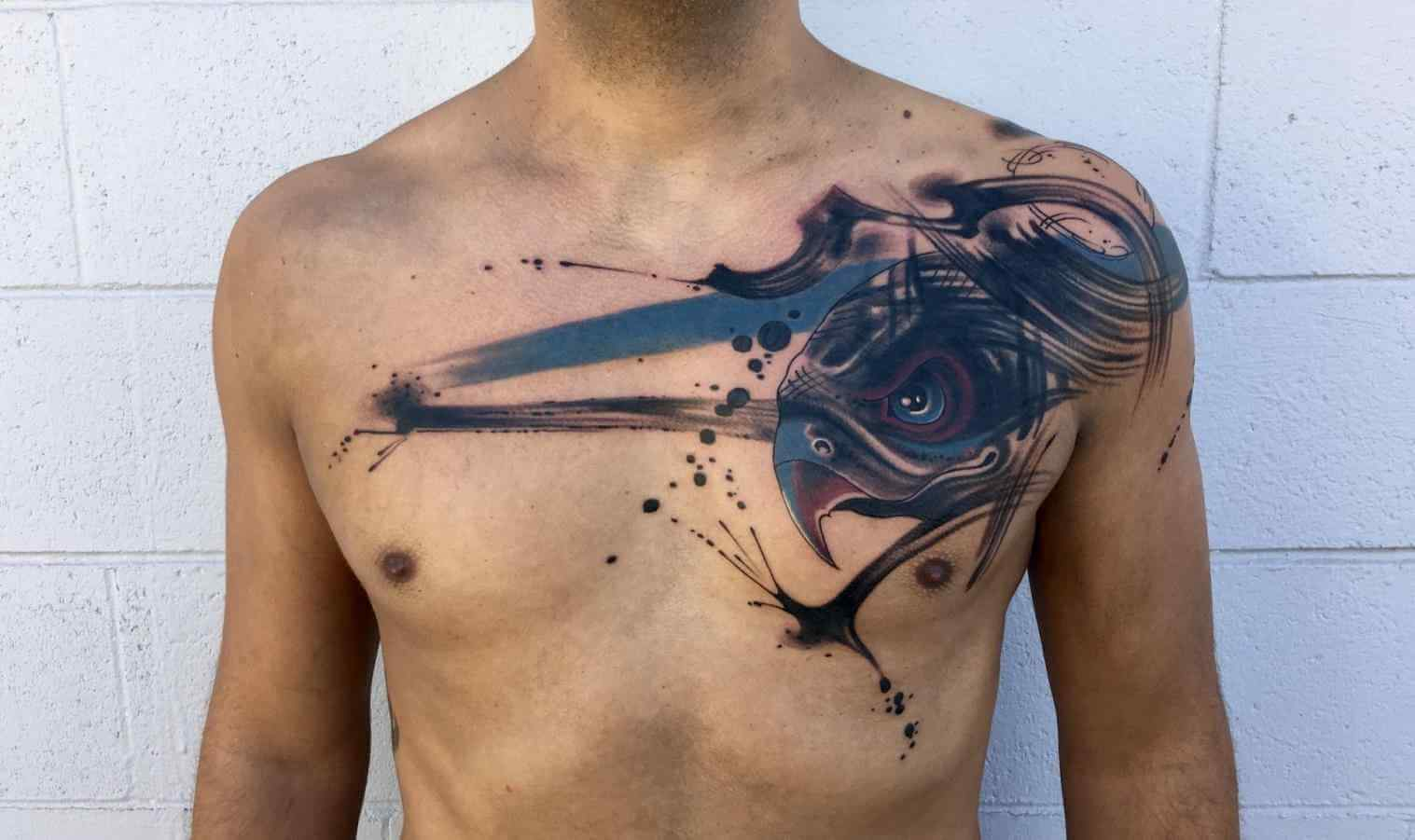 The 100 Best Chest Tattoos For Men Improb for measurements 1517 X 901