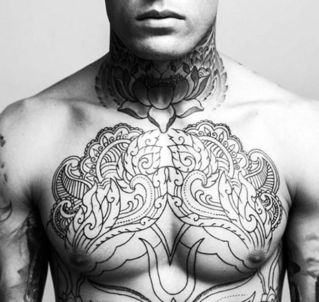 The 100 Best Chest Tattoos For Men Improb inside dimensions 1024 X 967