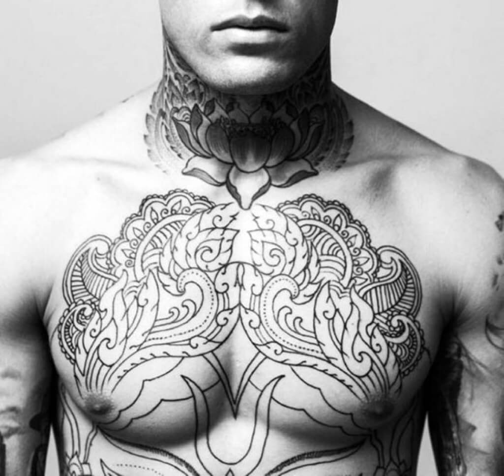 The 100 Best Chest Tattoos For Men Improb intended for proportions 1024 X 967