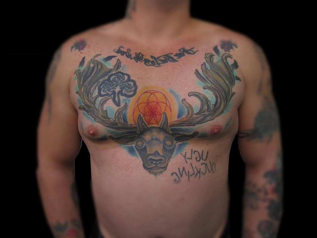 The 100 Best Chest Tattoos For Men Improb intended for sizing 1067 X 800