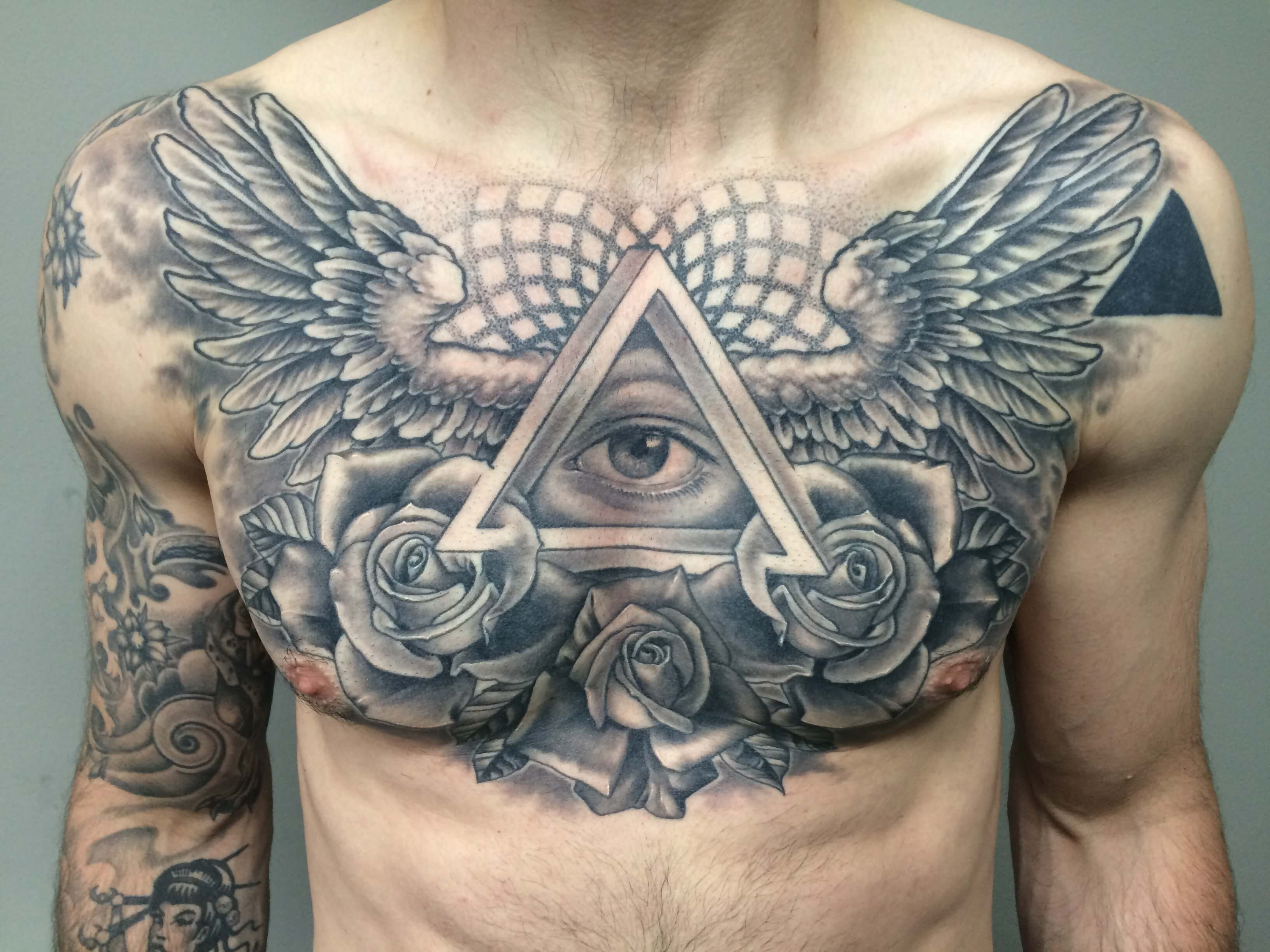 The 100 Best Chest Tattoos For Men Improb intended for sizing 3264 X 2448