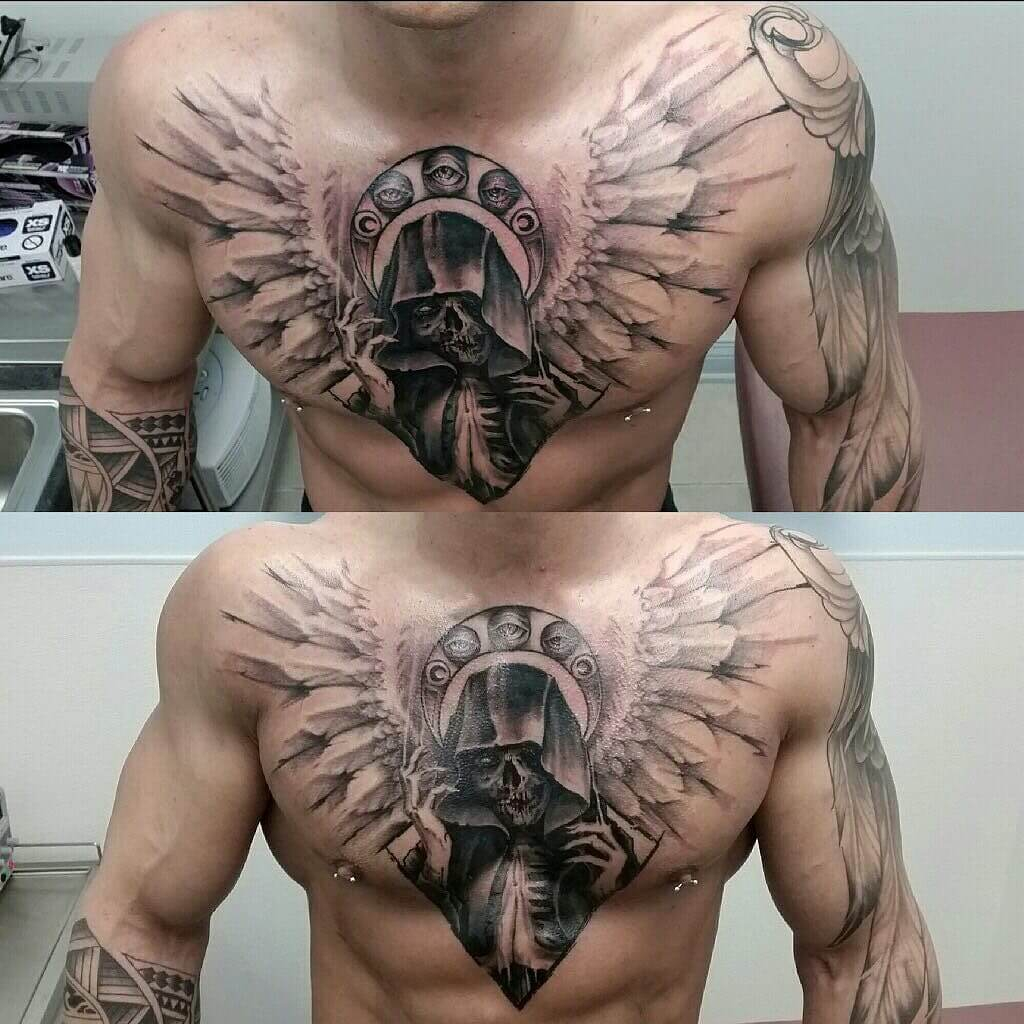 The 100 Best Chest Tattoos For Men Improb pertaining to proportions 1024 X 1024