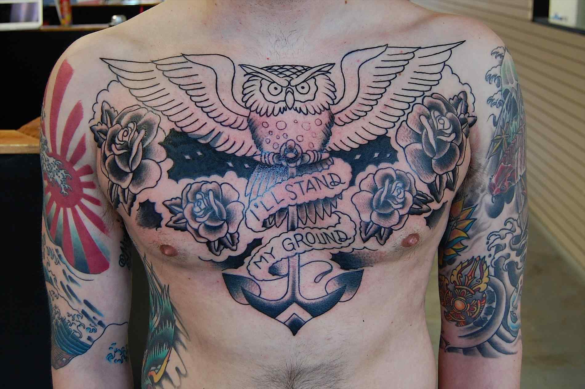The 100 Best Chest Tattoos For Men Improb pertaining to size 1900 X 1264