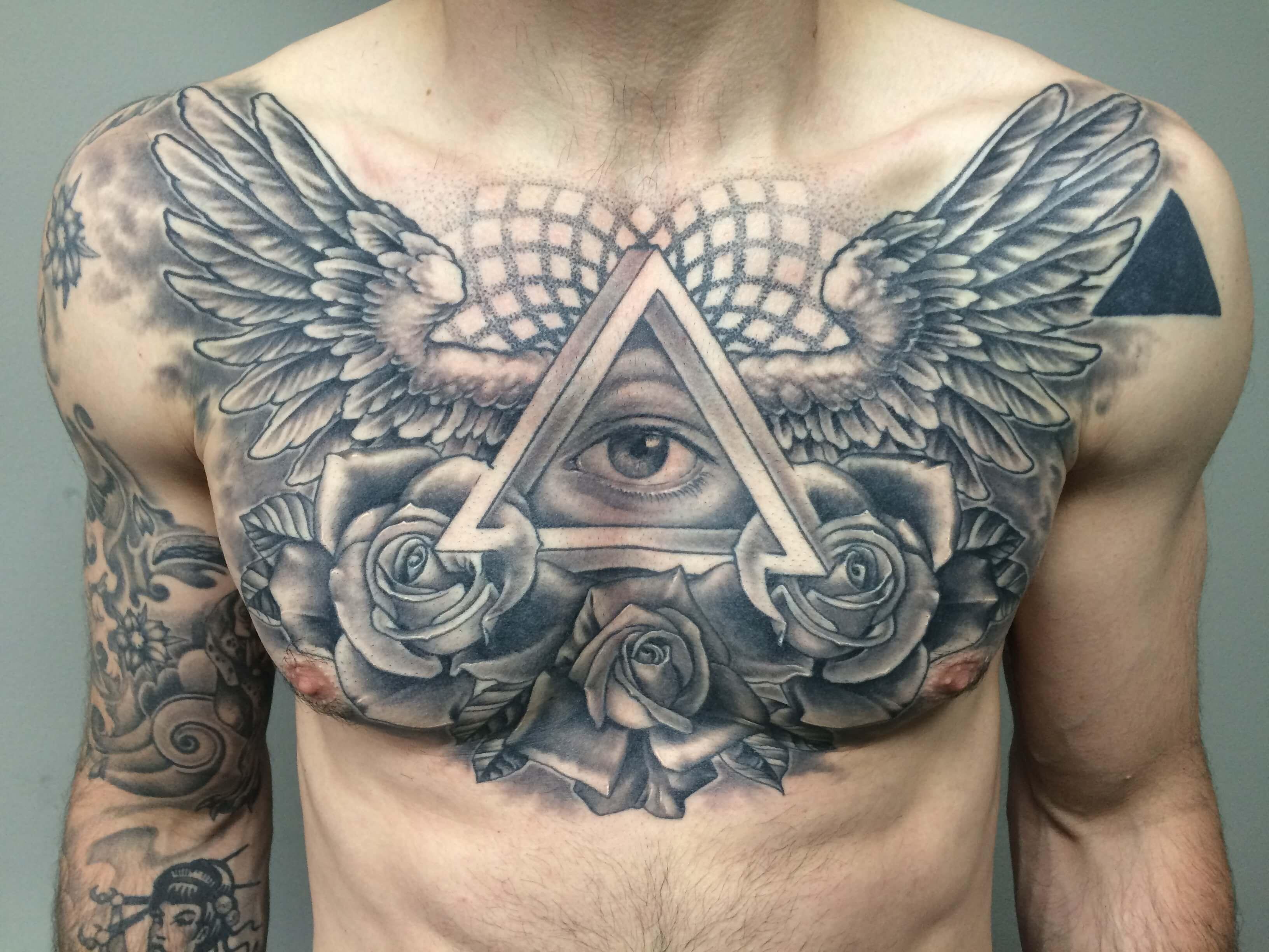 The 100 Best Chest Tattoos For Men Improb regarding sizing 3264 X 2448