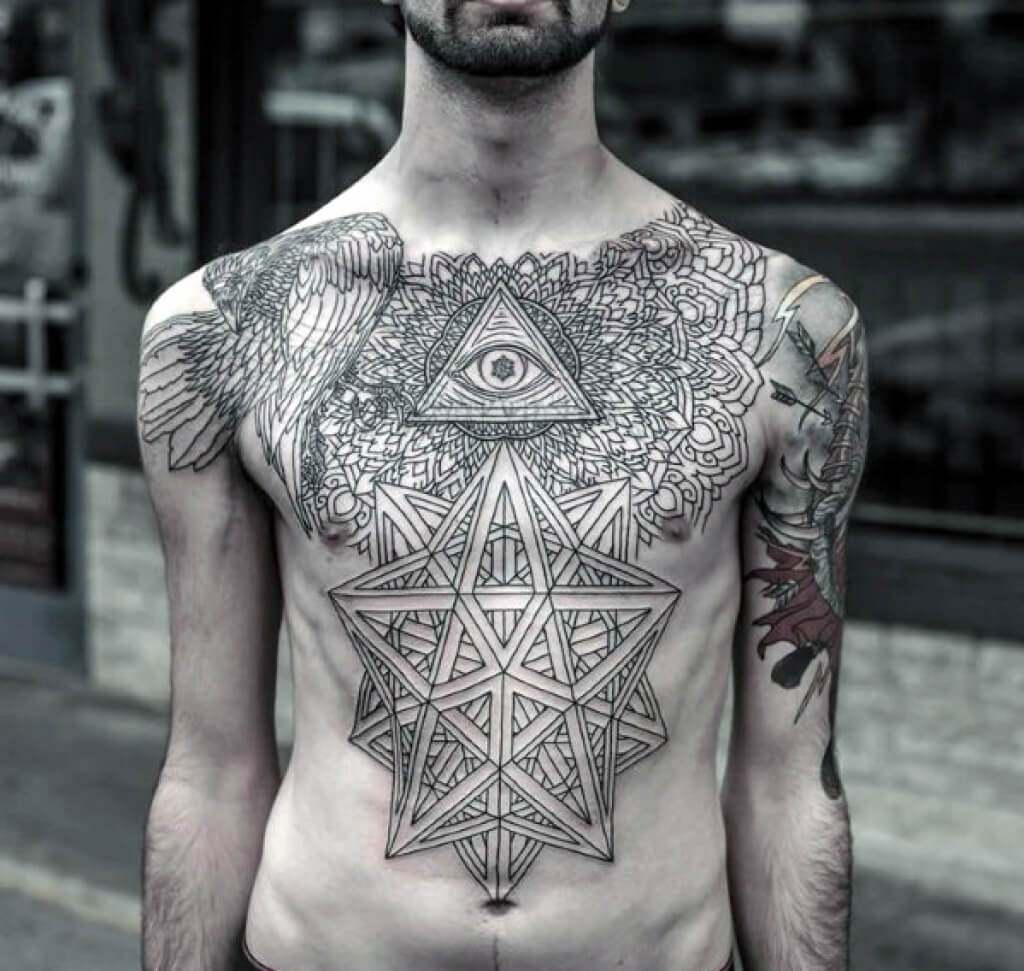 The 100 Best Chest Tattoos For Men Improb throughout dimensions 1024 X 971