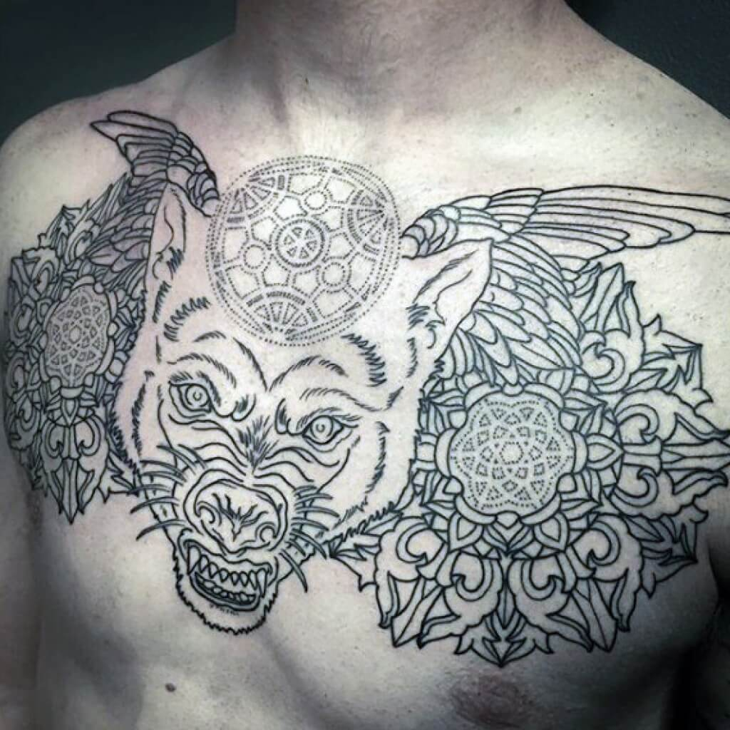 The 100 Best Chest Tattoos For Men Improb throughout measurements 1024 X 1024