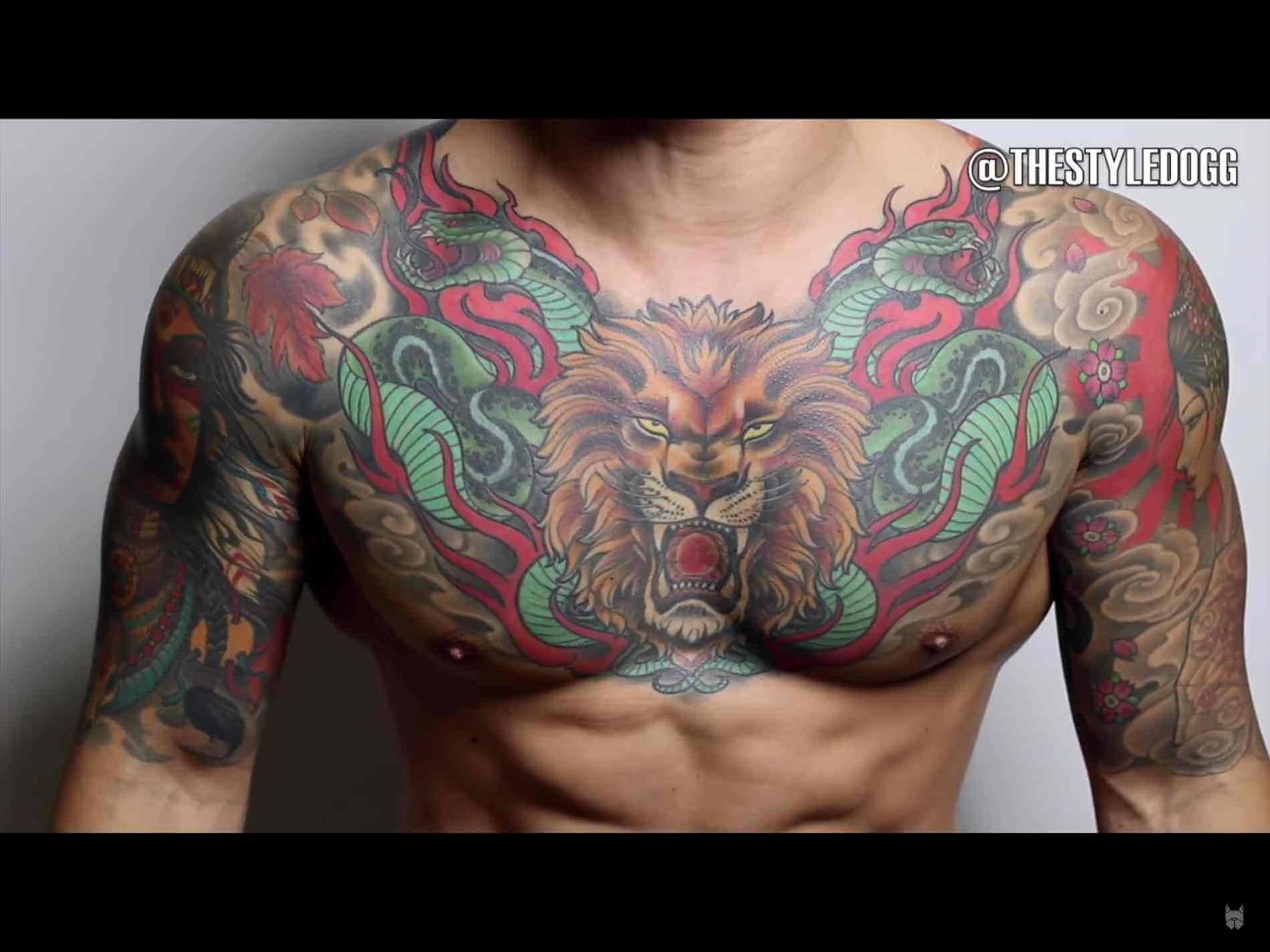 The 100 Best Chest Tattoos For Men Improb throughout measurements 1900 X 1425