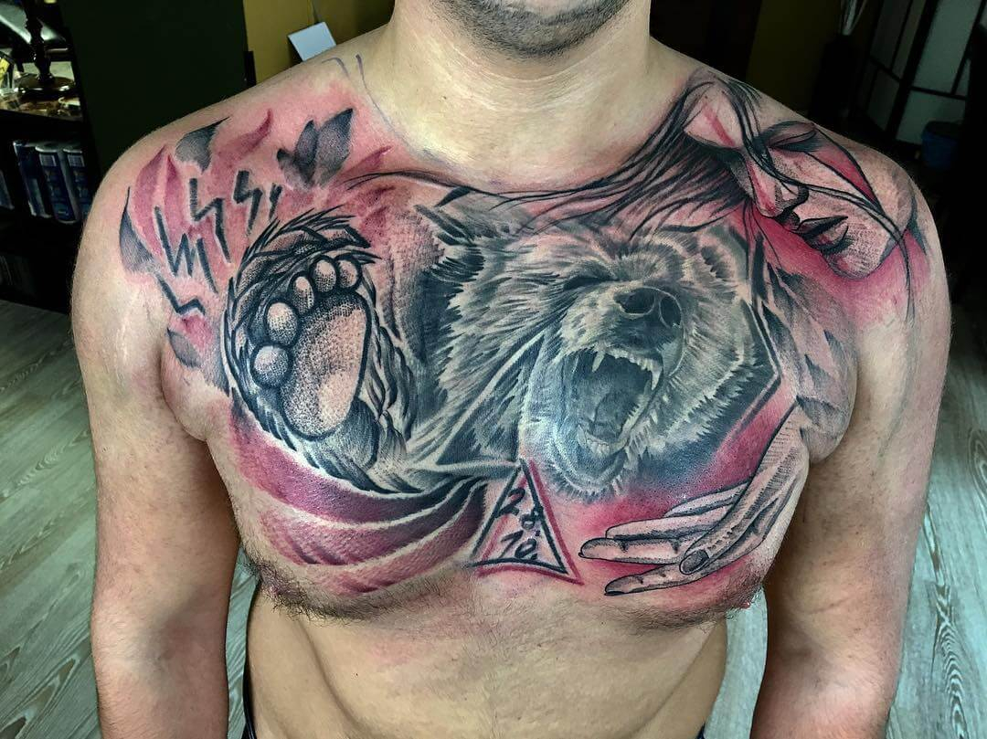 The 100 Best Chest Tattoos For Men Improb throughout size 1080 X 809