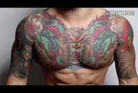 The 100 Best Chest Tattoos For Men Improb throughout size 1900 X 1425