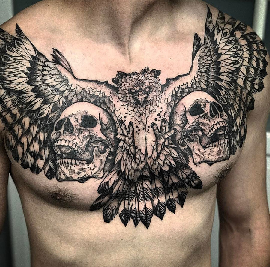 The 100 Best Chest Tattoos For Men Improb throughout size 900 X 890