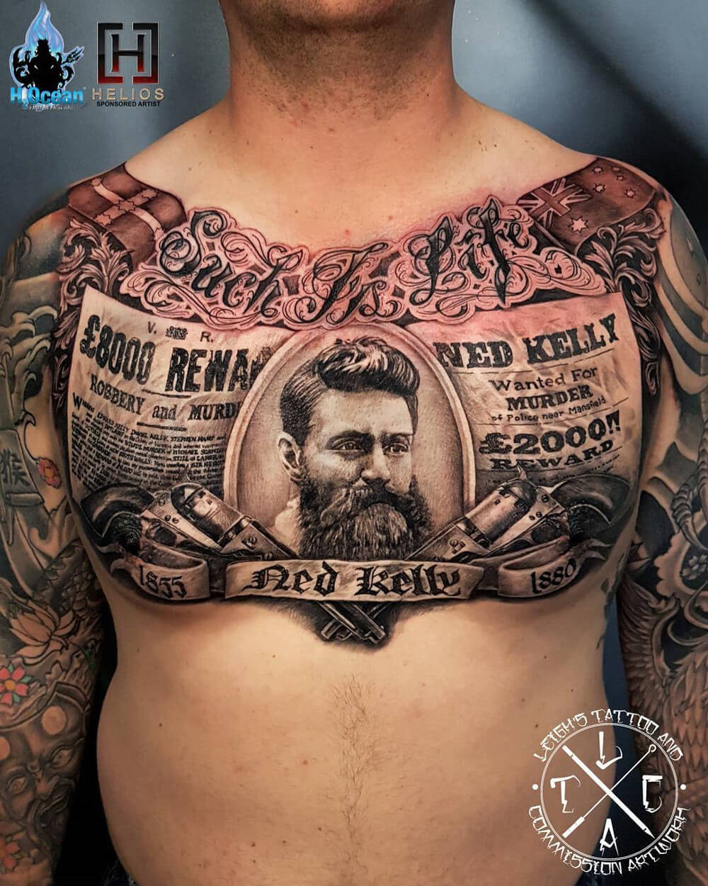 The 100 Best Chest Tattoos For Men Improb with regard to dimensions 1000 X 1250