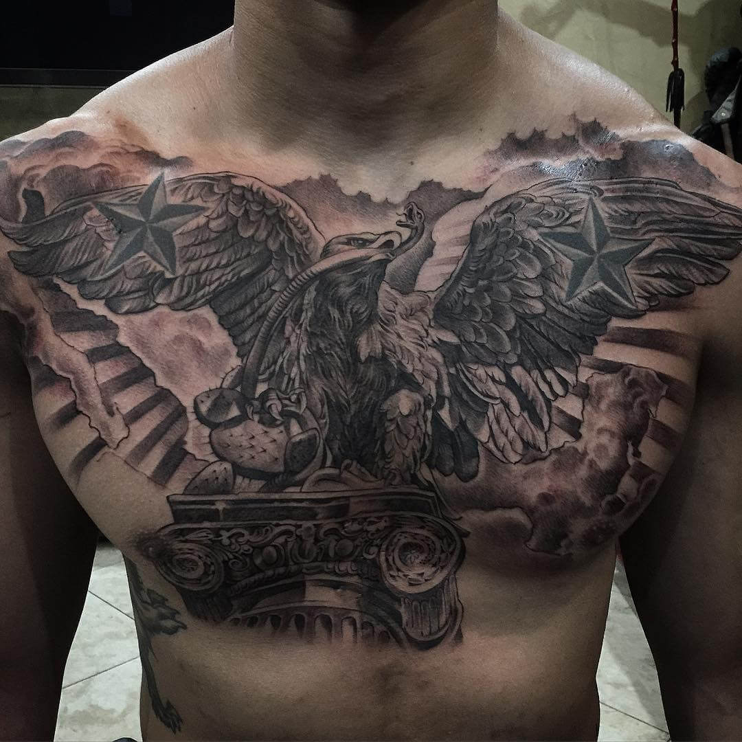 The 100 Best Chest Tattoos For Men Improb with regard to dimensions 1080 X 1080