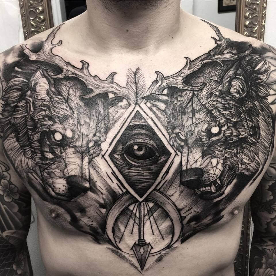 The 100 Best Chest Tattoos For Men Improb with regard to measurements 960 X 960