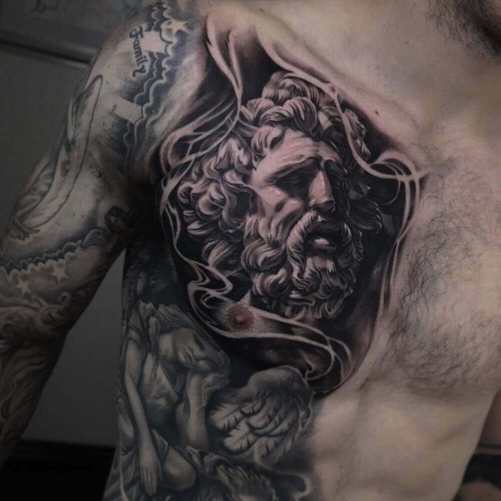 The 100 Best Chest Tattoos For Men Improb with regard to sizing 1000 X 1000