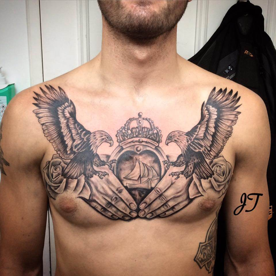 The 100 Best Chest Tattoos For Men Improb with regard to sizing 960 X 960