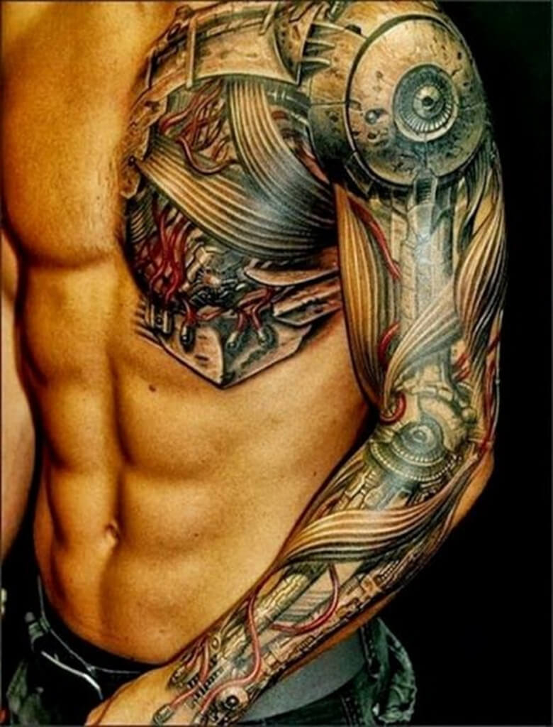 The 100 Best Chest Tattoos For Men Improb within size 780 X 1024