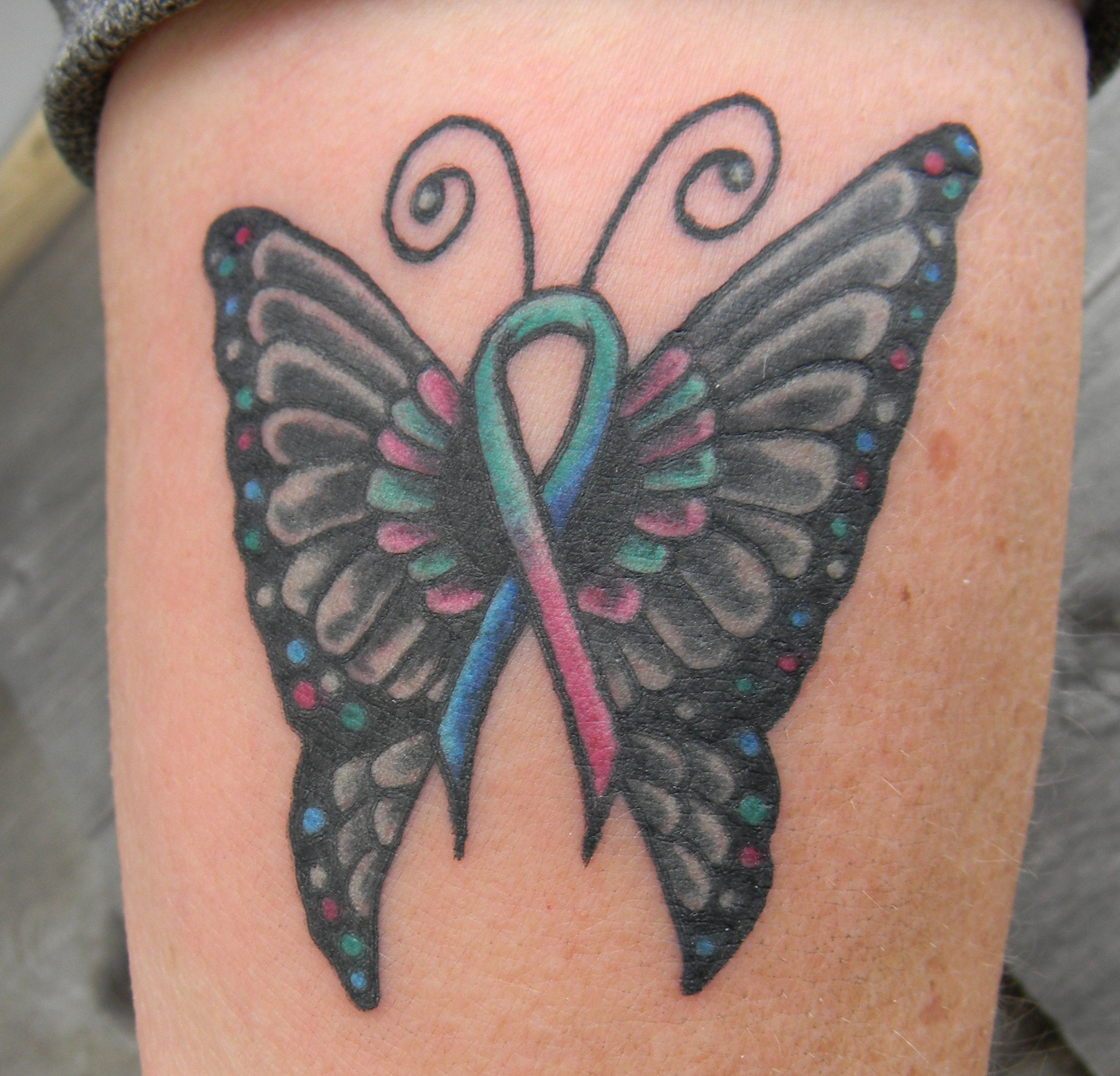 Thyroid Cancer Butterfly Tattoo Arm Tattoo Sites